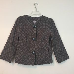 J.Jill women Jacket Size S Retro Style Embroidered